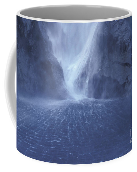 Milford Sound Coffee Mug featuring the photograph Electric Water - Milford Sound by Sandra Bronstein
