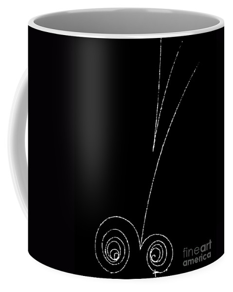 Science Coffee Mug featuring the photograph Electrons And Positrons, Bubble Chamber by Science Source