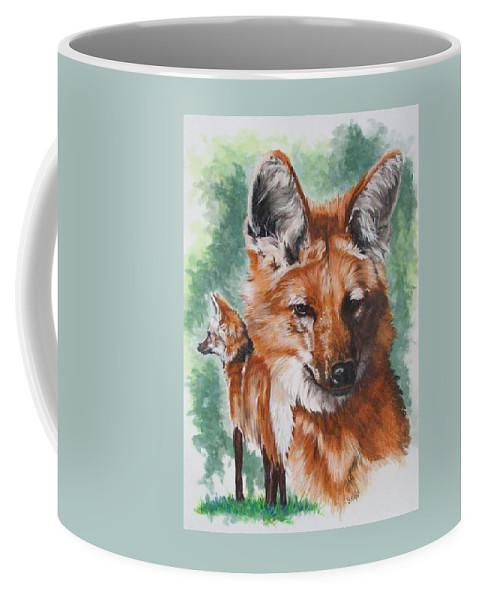 Canine Coffee Mug featuring the mixed media Elegant by Barbara Keith