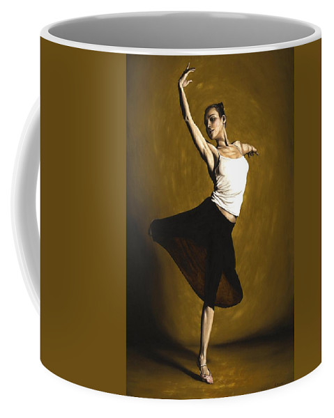 Elegant Coffee Mug featuring the painting Elegant Dancer by Richard Young