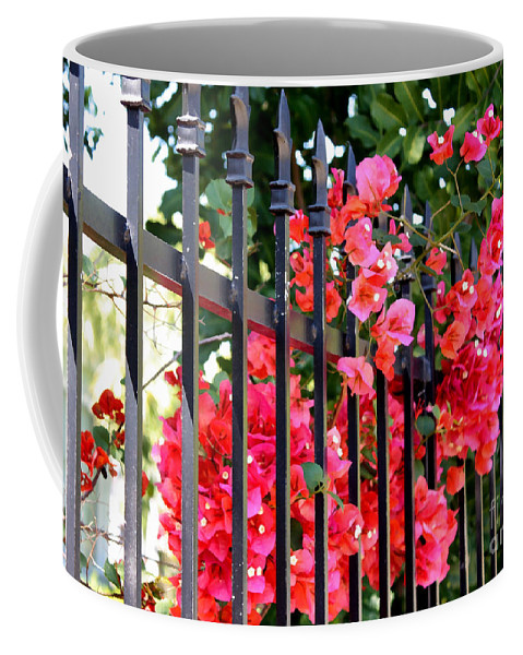 Garden Coffee Mug featuring the photograph Elegant Fence by Carol Groenen