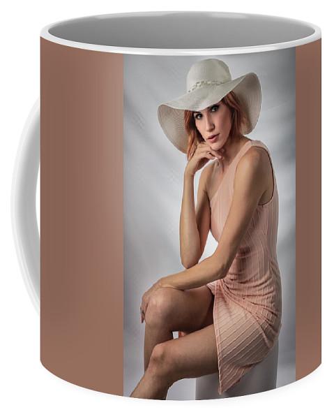 Johanna Dartez Castille. Coffee Mug featuring the photograph Elegant Johanna In Peach by Gregory Daley MPSA