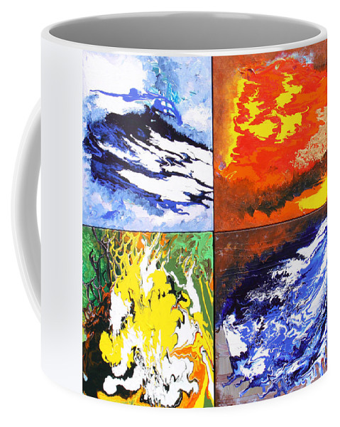 Elements Coffee Mug featuring the painting Elements by Ralph White