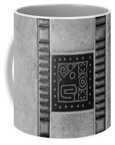 Aztec Coffee Mug featuring the photograph Elephant Crabs B W by Rob Hans