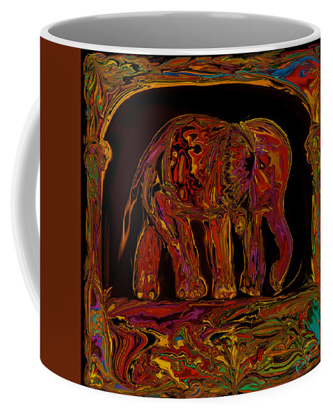 Animal Coffee Mug featuring the digital art Elephant by Rabi Khan