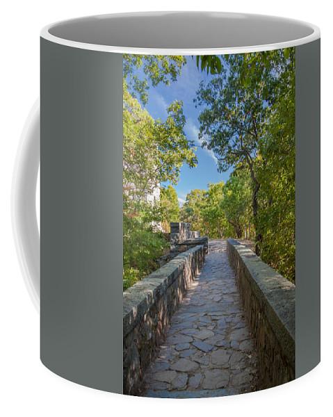 Blue Hills Coffee Mug featuring the photograph Eliot Memorial Bridge by Brian MacLean