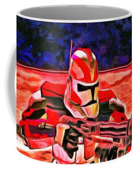 Trooper Coffee Mug featuring the digital art Elite Trooper - Da by Leonardo Digenio