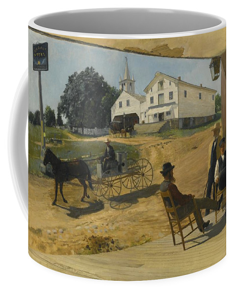 Otto Henry Bacher Coffee Mug featuring the painting Ella's Hotel Richfield Ohio by Otto Henry Bacher