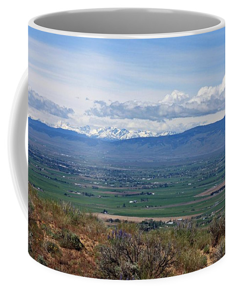 Ellensburg Coffee Mug featuring the photograph Ellensburg Valley With Sagebrush And Lupine by Carol Groenen