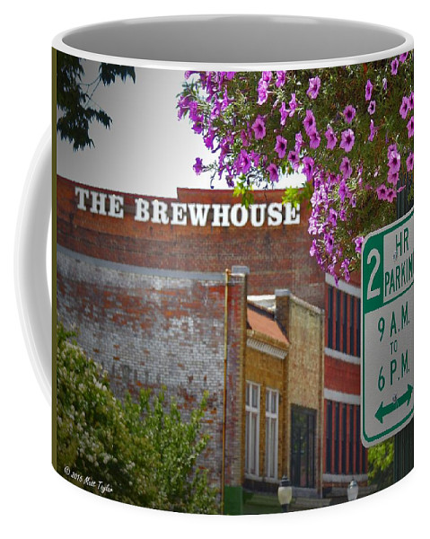 Outdoors Coffee Mug featuring the photograph Elm Street Downtown Greensboro by Matt Taylor