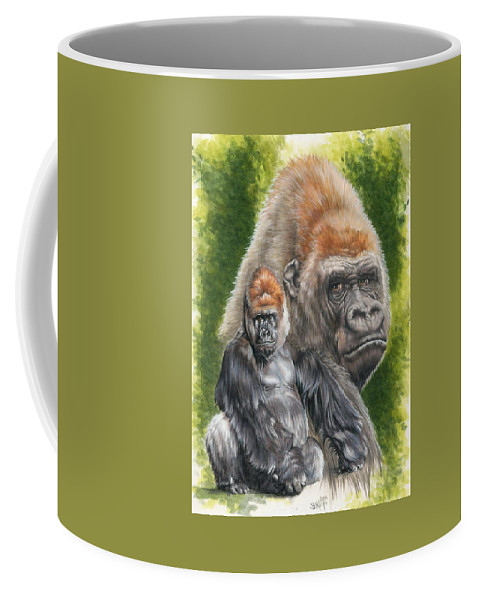 Gorilla Coffee Mug featuring the mixed media Eloquent by Barbara Keith
