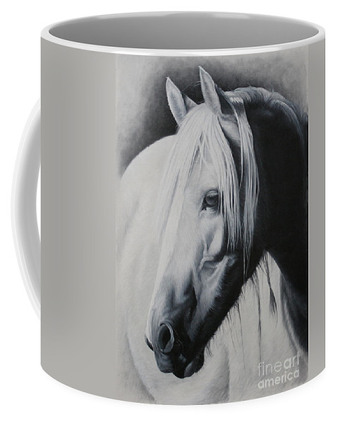 Portrait Coffee Mug featuring the painting Elsa-free Spirit by Pauline Sharp
