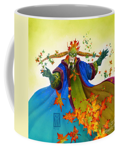 Elf Coffee Mug featuring the painting Elven Mage by Melissa A Benson