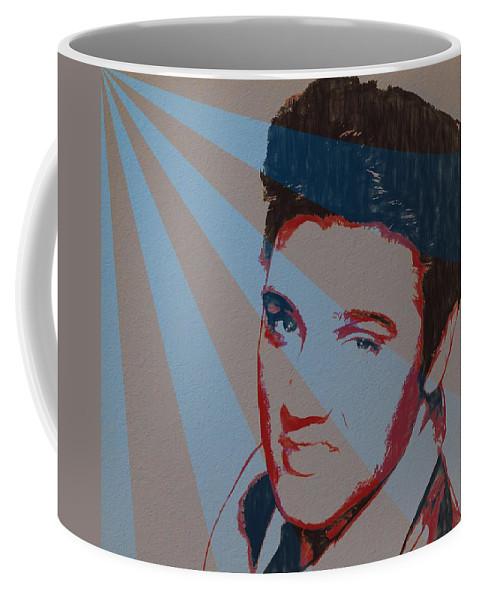 Elvis Pop Art Poster Coffee Mug featuring the painting Elvis Pop Art Poster by Dan Sproul