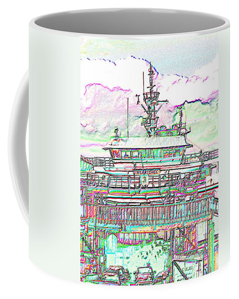 Seattle Coffee Mug featuring the photograph Embarking by Tim Allen