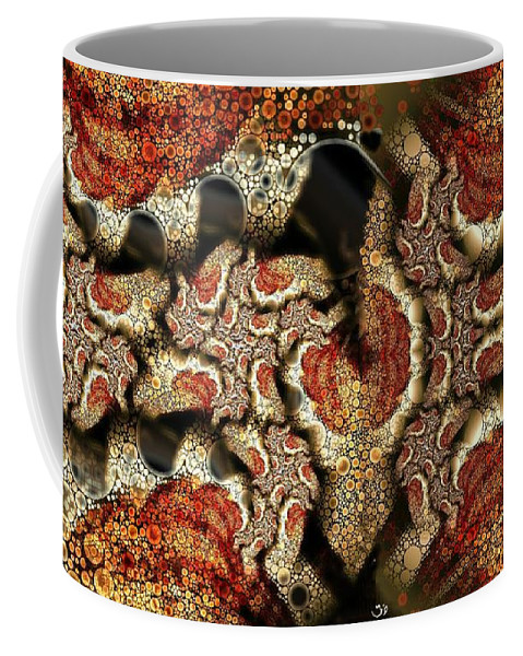 Abstract Coffee Mug featuring the digital art Embedded by Ron Bissett