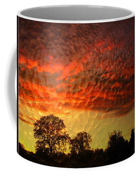 Sunrise Coffee Mug featuring the photograph Embossed Sunrise by Joyce Dickens