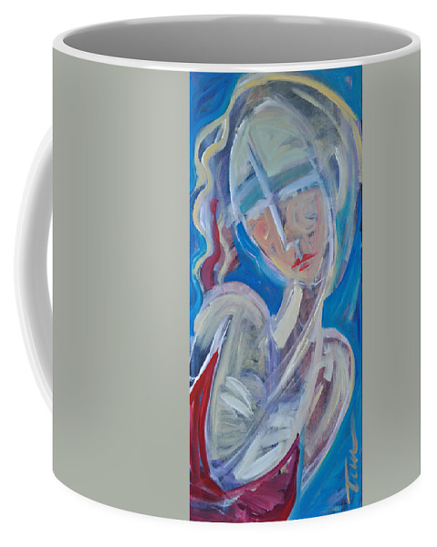 Woman Coffee Mug featuring the painting Embrace Me by Tim Nyberg