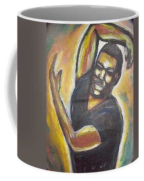 Figure Coffee Mug featuring the painting Embrace The Earth by Jan Gilmore