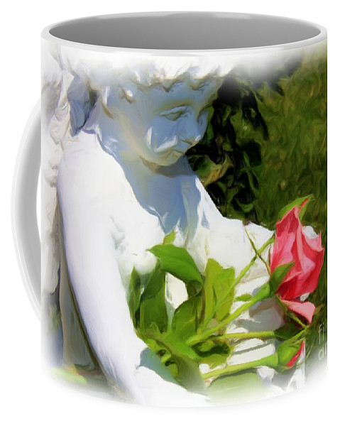Gardens Coffee Mug featuring the photograph Embracing Angel by Carol Groenen