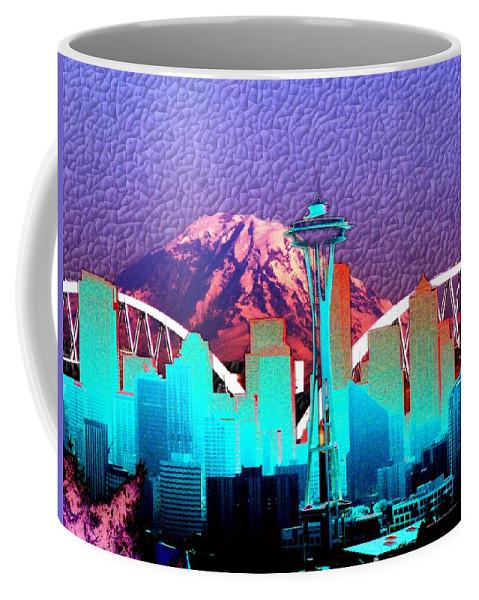 Seattle Coffee Mug featuring the photograph Emerald City Diamonds by Tim Allen