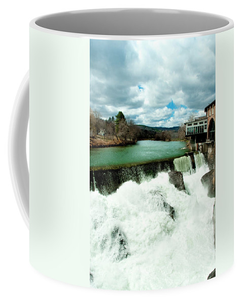 Covered Bridge Coffee Mug featuring the photograph Emerald by Greg Fortier
