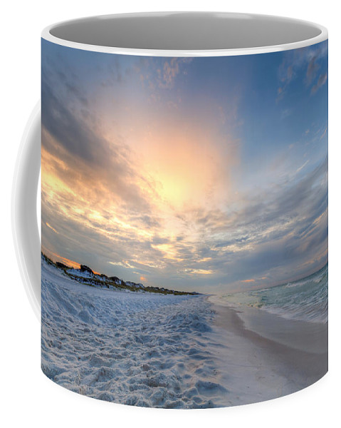 Clouds Coffee Mug featuring the photograph Emerald Gulf by Gary Oliver