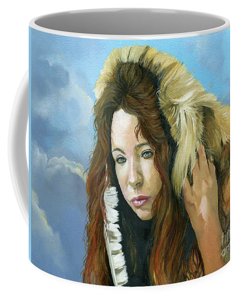 Emergence Coffee Mug featuring the painting Emergence by J W Baker