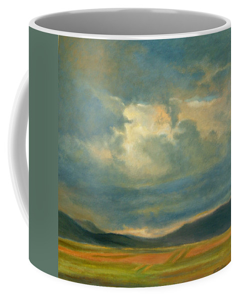 Southwest Coffee Mug featuring the painting Emergence by Phyllis Tarlow