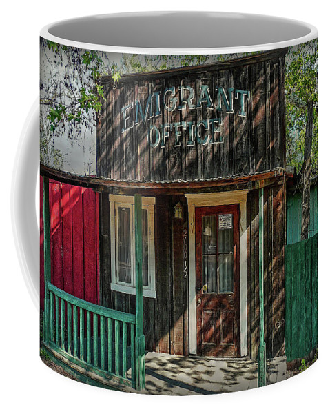 Emigrant Office Coffee Mug featuring the photograph Emigrant Office by Hanny Heim