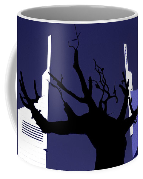 Uae Coffee Mug featuring the photograph Emirates Tower Abstract by Jeff Watts