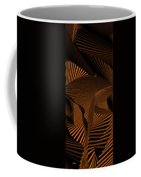 Dynamic Black And White Coffee Mug featuring the painting Emitgnimaerd by Douglas Christian Larsen