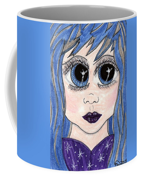 Emo Coffee Mug featuring the painting Emo Girl I by Tambra Wilcox