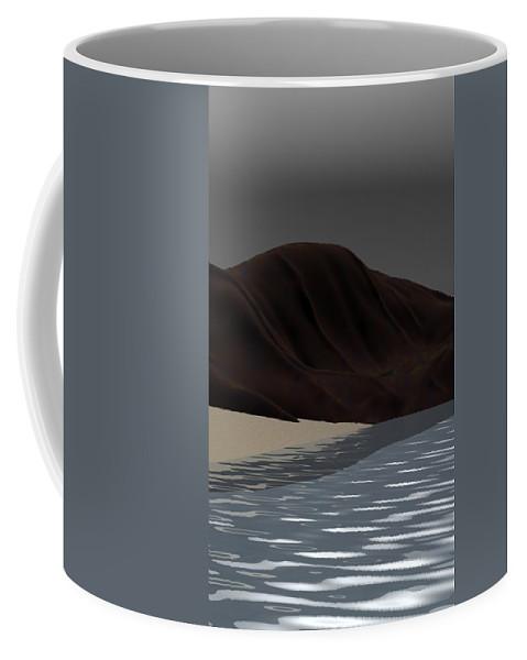 Abstract Coffee Mug featuring the digital art Emotion by David Lane