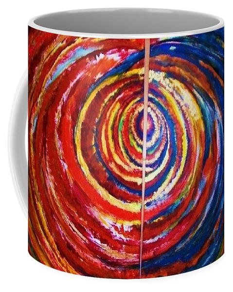 Original Art Coffee Mug featuring the painting Emotional Whirl by Rae Chichilnitsky