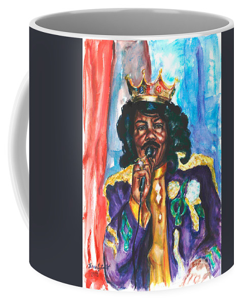 Ernie K Doe Coffee Mug featuring the painting Emperor Of The Universe by Beverly Boulet