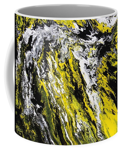 Abstract Coffee Mug featuring the painting Emphasis by Ralph White