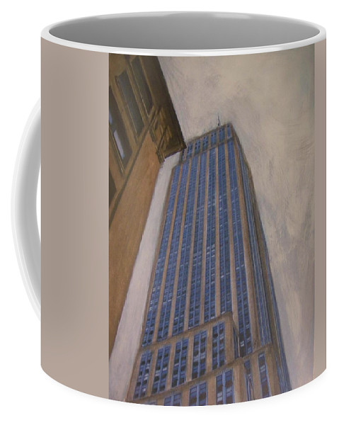 Empire State Building Coffee Mug featuring the mixed media Empire State Building 2 by Anita Burgermeister