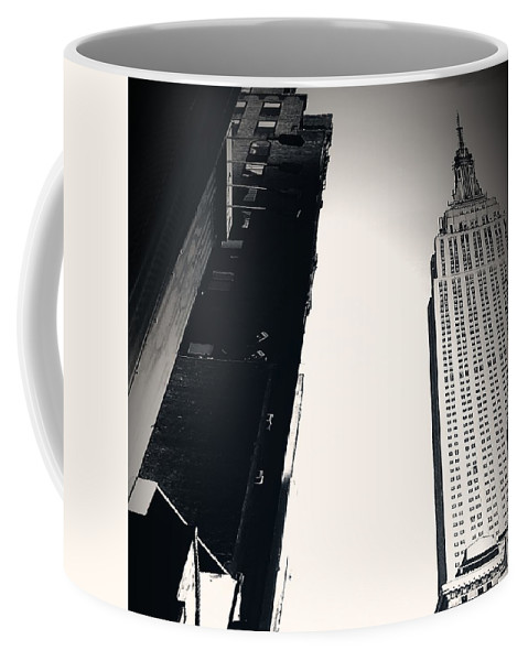 Nyc Coffee Mug featuring the digital art Empire State Of Mind by Katie Irwin Flather