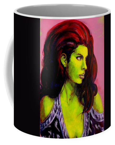 Girl Coffee Mug featuring the painting Empress At Rest by Jason Reinhardt
