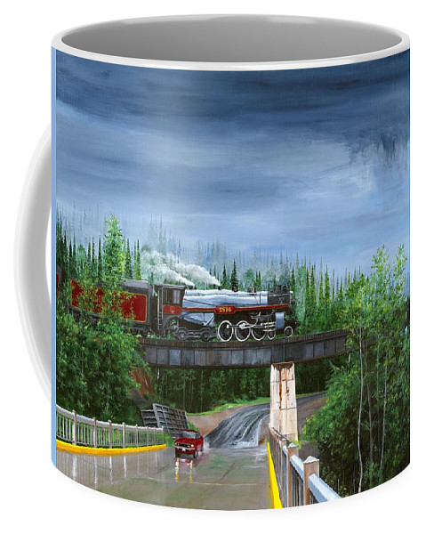 Bc 150 Train Coffee Mug featuring the painting Empress In Southern Bc by Glen Frear