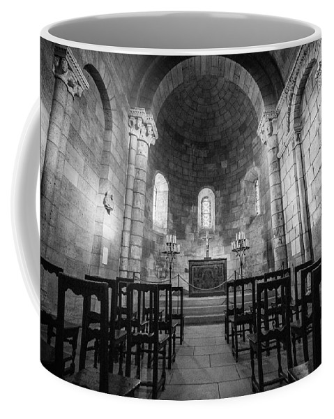 Cloisters Museum Coffee Mug featuring the photograph Empty Chapel by Kristopher Schoenleber