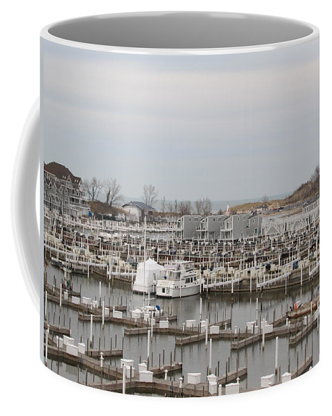 Empty Harbor Coffee Mug featuring the photograph Empty Harbor by Michael TMAD Finney