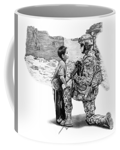 Empty Pockets Coffee Mug featuring the drawing Empty Pockets by Peter Piatt