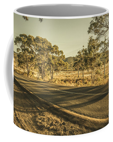 Regional Coffee Mug featuring the photograph Empty Regional Australia Road by Jorgo Photography - Wall Art Gallery