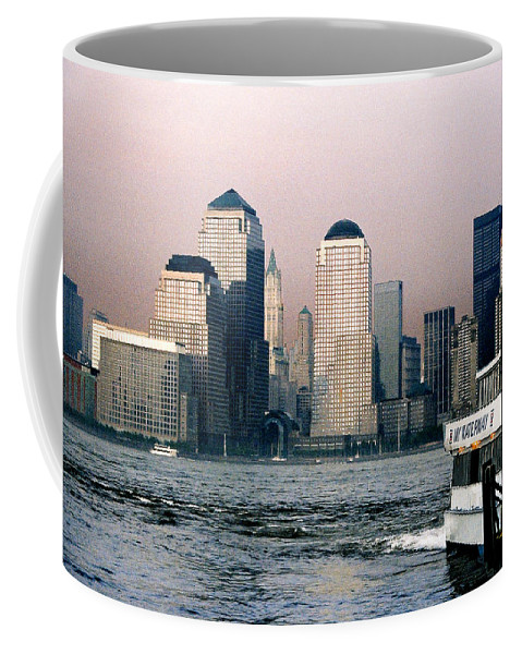 New York Coffee Mug featuring the photograph Empty Sky by Steve Karol