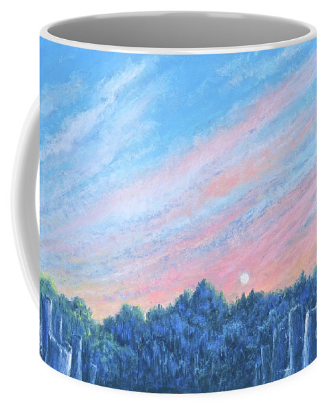 Beautiful Sunset Painting Coffee Mug featuring the painting enchanced- Catching the SunSet by Penny Neimiller