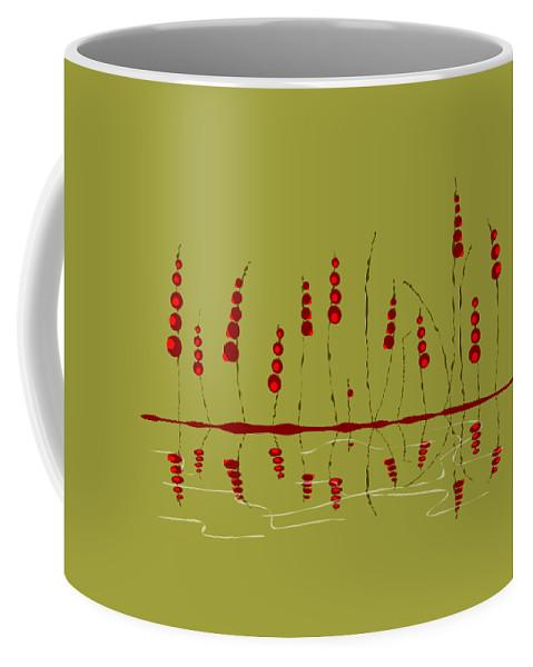 Malakhova Coffee Mug featuring the digital art Enchanted Berries by Anastasiya Malakhova