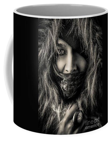 Concept Coffee Mug featuring the photograph Enchanted Concept Black And White by Michael Arend