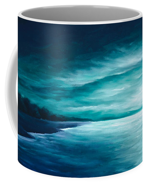 Moonscape Coffee Mug featuring the painting Enchanted Moon I by James Christopher Hill